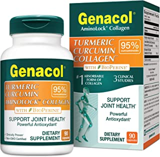 Genacol Turmeric Curcumin with Bioperine and Collagen (90 Capsules). Exclusive Natural Joint Health & Joint Support Formul...