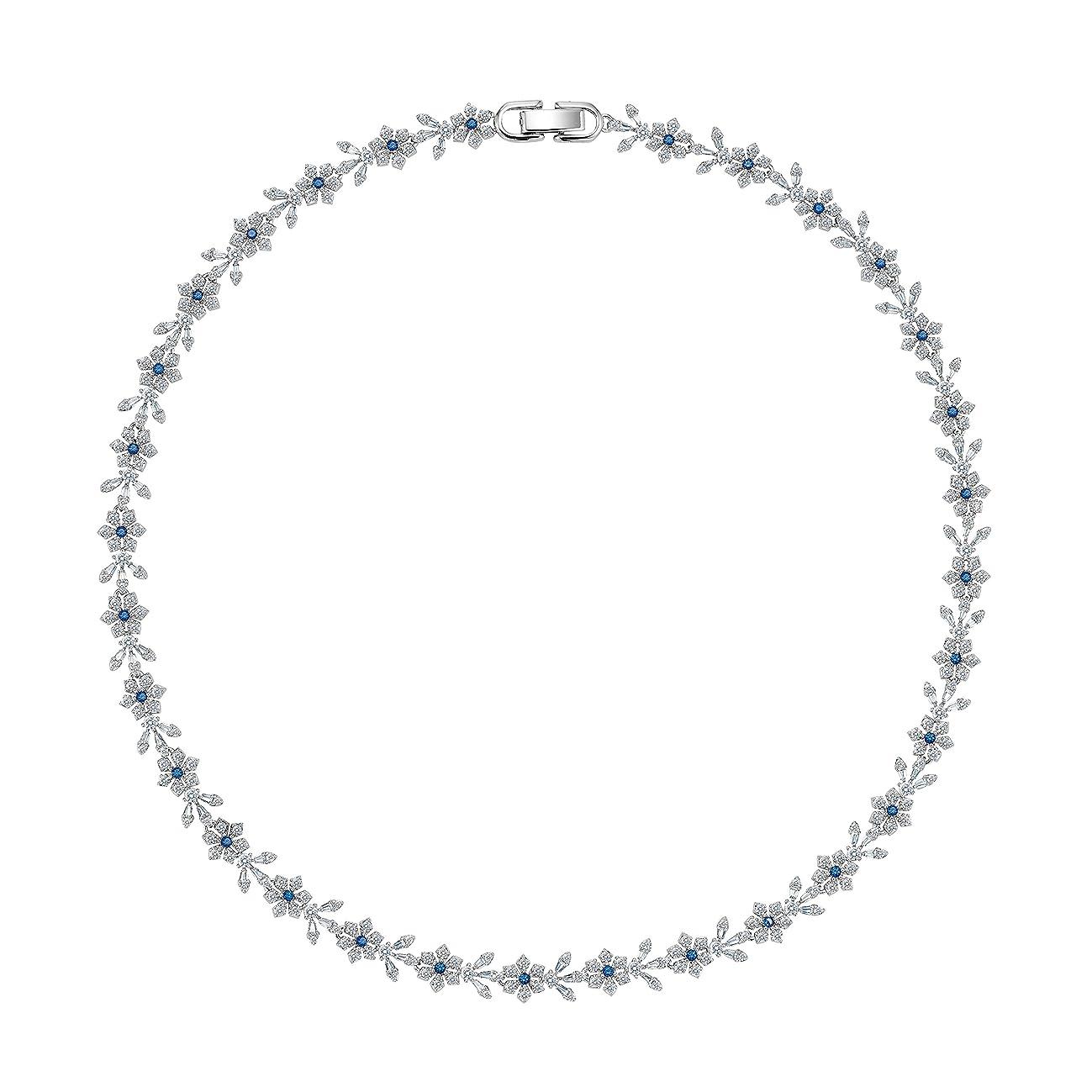MIYUMIRO Women's Royal Blue Petal Collar Necklace - Royal Blue Collection