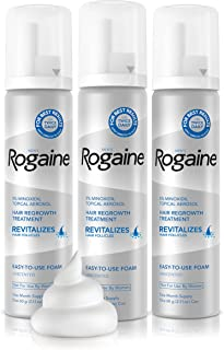 Men's Rogaine Extra Strength 5% Minoxidil Topical Aerosol Hair Regrowth Treatment Foam 3 Month Supply (each can 2.11 oz / ...