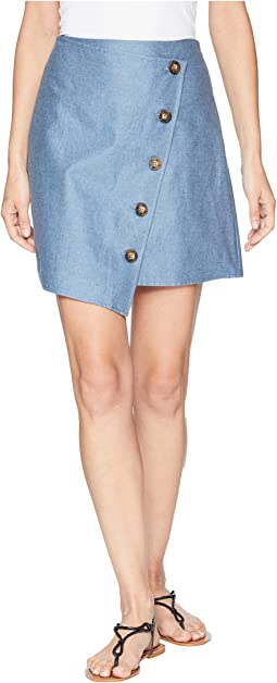 Angle Buttoned Mini Skirt