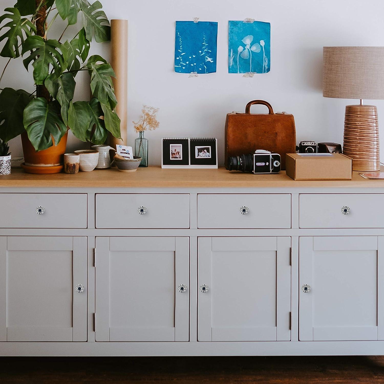 10 Pack Kitchen Cabinet Knobs Drawer Knobs Dresser Knobs Crystal Knobs Drawer Pulls Shabby Chic Decor Glass Door Knobs Kids Dresser Drawer Handles Knobs for Dresser Drawers
