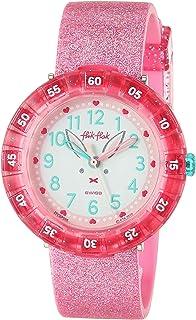 Flik Flak Kids Garden Adventure Swiss Quartz Watch with Silicone Strap, Pink, 16 (Model: ZFCSP095)