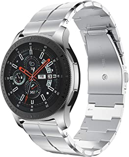 ANCOOL Comaptible with Gear S3 Bands 22mm Stainless Steel Watch Band Repalcement for Galaxy Watch 46mm/Gear S3 Frontier Smartwatches, Silver