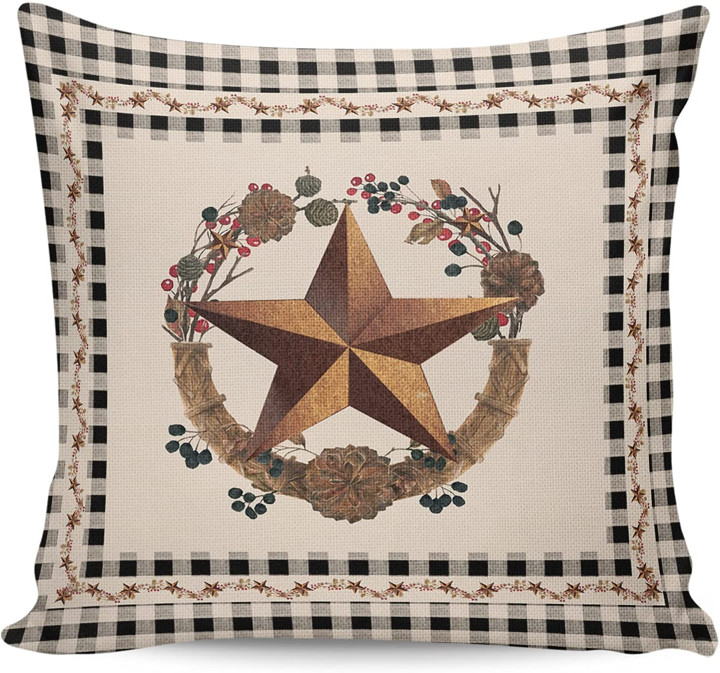 CHARMHOME Max 66% OFF OFFicial store Throw Pillow Covers Cases Wester Cushion Square