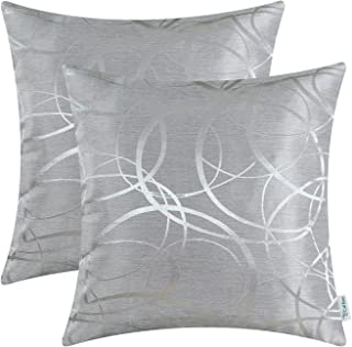 black and silver cushions