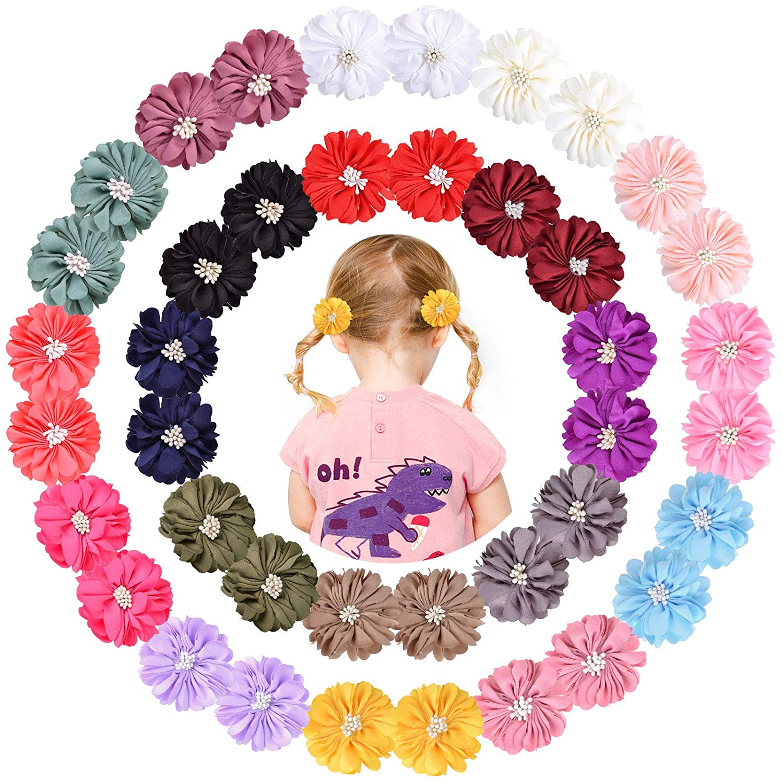 40Pcs High order Baby Girl Hair Bow Barrettes Floral Clips Grosgrain 55% OFF Satin