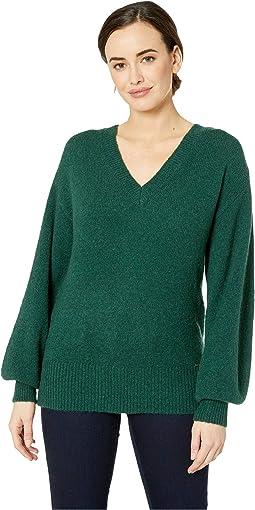 V-Neck Big Sleeve Sweater