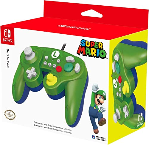 Nintendo Switch Battle Pad (Luigi) GameCube-Style Controller by HORI - Officially Licensed By Nintendo