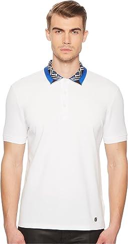 Printed Collar Pique Polo