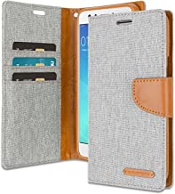 Oppo F3 Wallet Case with Free 4 Gifts [Shockproof] GOOSPERY Canvas Diary Ver.Magnetic [Denim Material] Card Holder with Kickstand Flip Cover for Oppo F3 - Gray, OPPOF3-CAN/GF-GRY