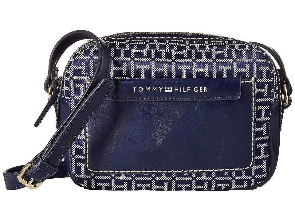 Tommy Hilfiger Jackie Camera Crossbody (Navy/White) Handbags