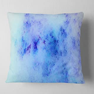 Designart Light Blue Starry Fractal Sky' Abstract Throw Living Room, Sofa, Pillow Insert + Cushion Cover Printed on Both S...
