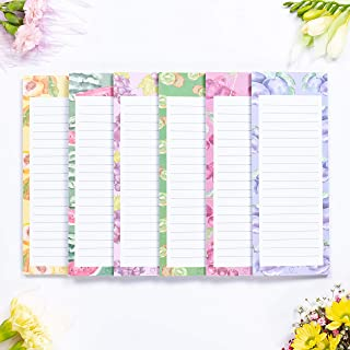 """Peach Tree Shade Magnetic Notepads, 6-Pack 60 Sheets Per Pad 3.5"""" x 9"""", Assorted Fruit Shapes, for Fridge, Kitchen, Shoppi..."""
