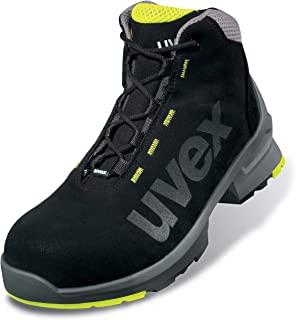 Uvex 1 Work Boots - S2 Safety Boots SRC ESD Non-Slip Sole and Toe Cap - Lime-Black