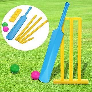 Fansport Cricket Set for Kids Beach Cricket Equipment Kwik Cricket Creative Sports Game Set Ball Game Set for Backyard NBR Rubber Water Proof Contents Bat, Ball, Stumps, Bail