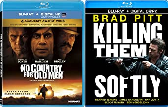 Killing Them Softly Blu Ray & No Country for Old Men Digital HD 2 Pack Crime Mystery Thriller Movie Set