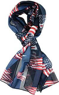 USA Flag Scarf, Patriotic, Red, White and Blue American Flag Scarf