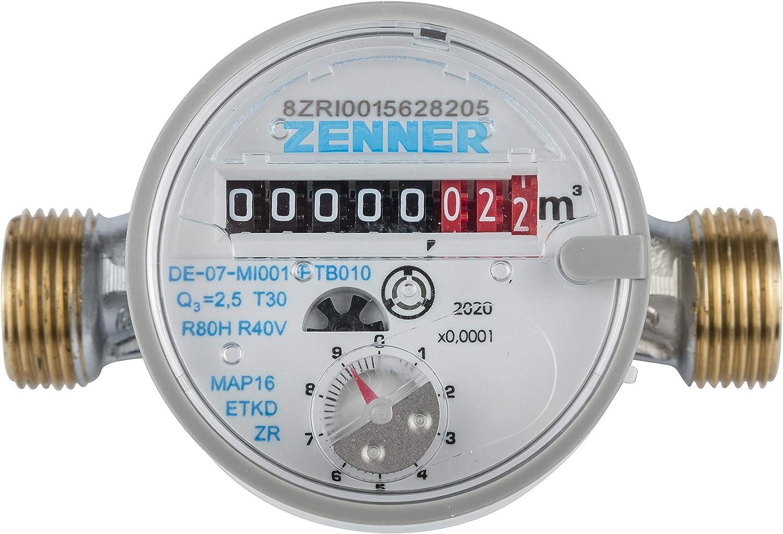 Contador de agua Zenner ETKD para agua fría longitud total 110 mm, 146630