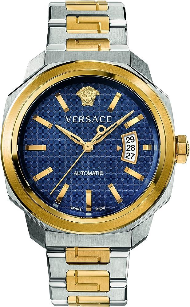 Versace orologio analogico automatico uomo con cinturino in acciaio inox VAG030016
