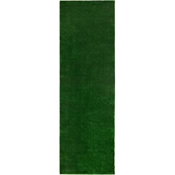 """Sweethome Meadowland Collection Indoor and Outdoor Green Artificial Grass Turf Runner Rug 2'7"""" X 8'0"""" Green Artificial Grass/Pet mat with Rubber Backed"""