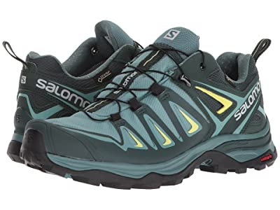 Salomon X Ultra 3 GTX(r) (Artic/Darkest Spruce/Sunny Lime) Women