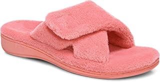 Vionic Women's Indulge Relax Slipper - Ladies Comfortable Cozy Adjustable House Slippers with Concealed Orthotic Arch Supp...