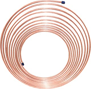 20 Feet of 1//4 inch Copper//Cupronickel Brake Line Tubing with Fittings 2-10 foot coils