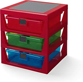 LEGO 40950001 3-Drawer Storage Rack-Red