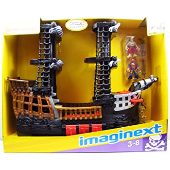 Theme Park Edition SG/_B01KGJBXBO/_US Disneys Deluxe Mickey Mouse Pirates of the Caribbean Pirate Ship Play Set