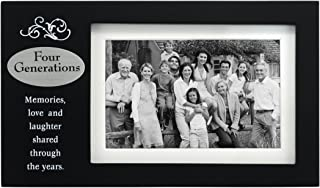 Malden International Designs Four Generations With Verse Plaque Picture Frame, 4x6, Black