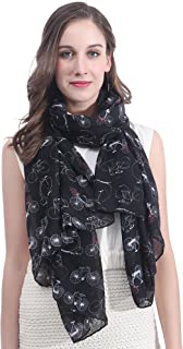 Lina & Lily Vintage Bicycle Print Women's Scarf Shawl Lightweight
