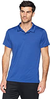 Peak Velocity Men's Short Sleeve Quick-Dry Fitted Performance Polo