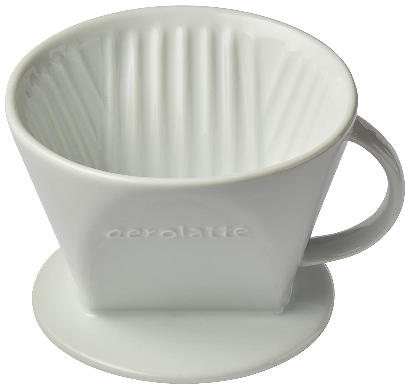 Aerolatte 029 Pour Over Coffee Dripper Reusable Filter Cone Brewer, Number 2-Size, Ceramic, Brews 2 to 6-Cups icefobhbxfaen42