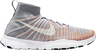 Men's Free Train Force Flyknit Running/Training Shoes (10.0, Wolf Grey/Total Orange)