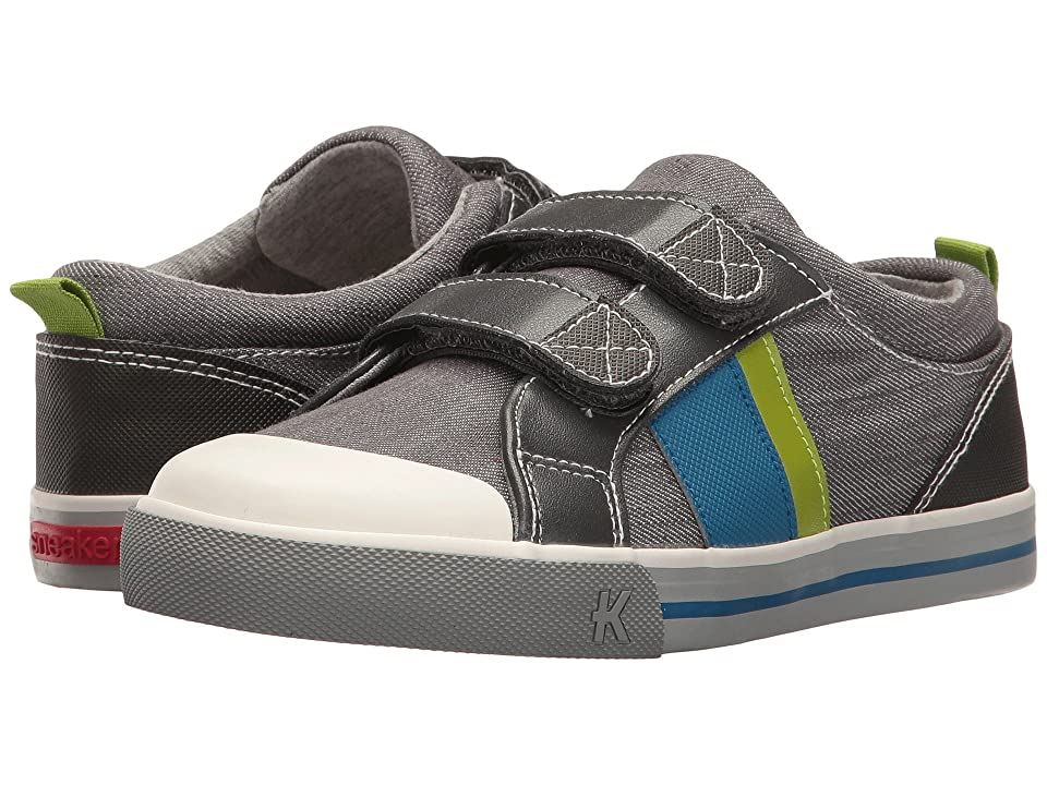 See Kai Run Kids Russell (Toddler/Little Kid) (Gray Denim) Boys Shoes