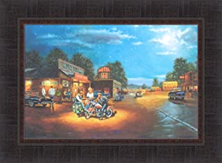 Route 66 by Dave Barnhouse 17x23 Harley Davidson Motorcycles Bikes Americana Framed Art Print Picture
