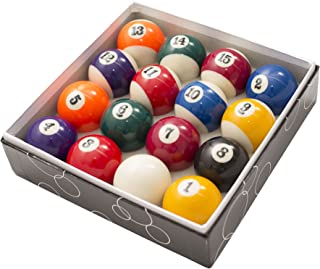 Transcend United 2 1/4 Inch Standard American Pool Table Billiard Ball Set Precision Engineered