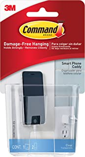 Command 2-packages of Cell Phone Caddy, Decorate Damage-Free (HOM17CLR-ES)