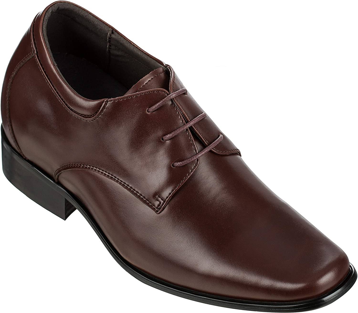 CALDEN - K56550-3.2 Inches Taller - Size 11 D US - Height Increasing Elevator shoes (Brown Dress shoes)