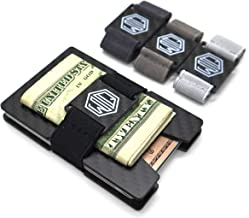 Carbon Fiber Wallet Cash Band by Widely Quality - RFID Blocking - Complete Set with Multitool and Extra Bands - Minimalist Card Holder Pop Up - Slim wallet - Lightweight and Secure - for Men and Women