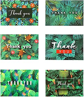Thank You Cards Multipack, 30 Pcs 6 Patterns Thank You Gift Cards with Envelopes and Thank You Stickers for Christmas Than...