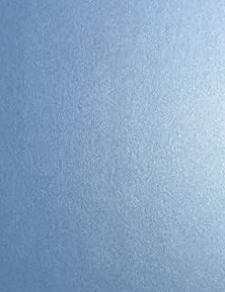 Vista Blue Stardream Metallic Cardstock Paper - 8.5 X 11 inch - 105 lb. / 284 GSM Cover - 25 Sheets from Cardstock Warehouse