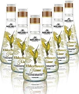 Agua Tónica Carbonatada de Elderflower & Lime - Infusión Botánica de Lujo Sin Alcohol, Baja en Azúcar - Para que Usted Controle la Dulzura al Gusto - Sin Ingredientes Artificiales