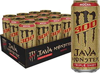 Monster Energy Java 300 Mocha, Triple Shot, Robust Coffee + Cream, 15oz (Pack of 12)