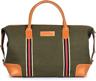 Grace 48 ltrs Green Canvas Travel Duffel Bag, Weekender Bag