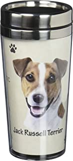 E&S Pets Stainless Steel Jack Russell Terrier Tumbler, 16 oz
