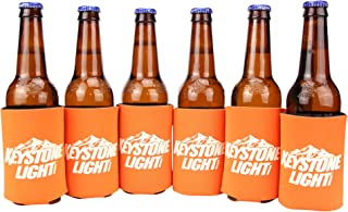 Beer Brand Can/Bottle Cooling Coozie 6-Pack (Keystone Light (Orange))