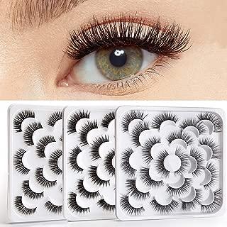 30 Pairs 3D Falses Eyelashes Natural Look Fake Eyelashes Reusable False Lashes 3 Style
