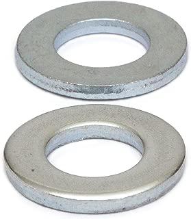 (10) M8 Zinc Plated Flat Washers, Metric DIN 125 A / 125A Class 10.9 Steel 200 HV Cr+3 RoHS - MonsterBolts (10, M8)
