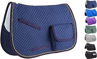 Derby Originals Premium Half Fleece Lined All Purpose & Dressage English Saddle Pads with Pockets